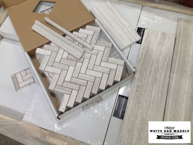 $11.95 a Square Foot and Free Shipping part of our white oak collection but not just with one mosaic, we have field tiles and trims to match create a bathroom like no other.