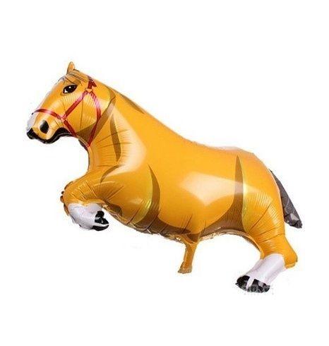 Folie ballon paard bruin