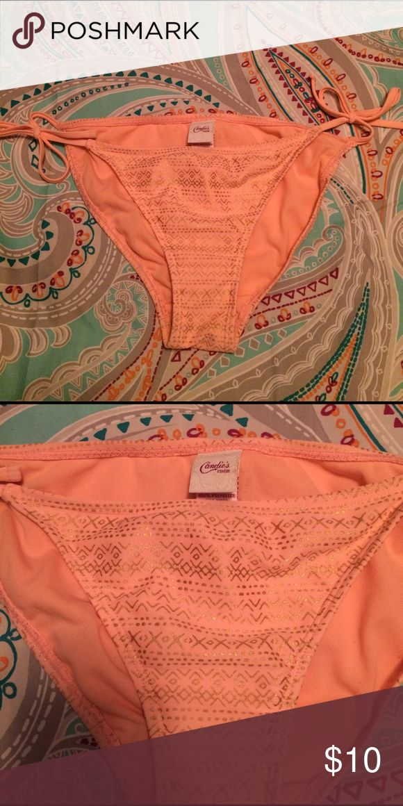 Coral and Gold Bikini Bottoms Coral and Gold Bikini Bottoms Candie's Swim Bikinis