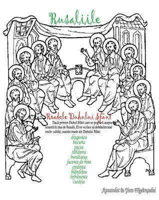 Hristos împărtăşit copiilor: Pogorârea Duhului Sfânt (Rusaliile)