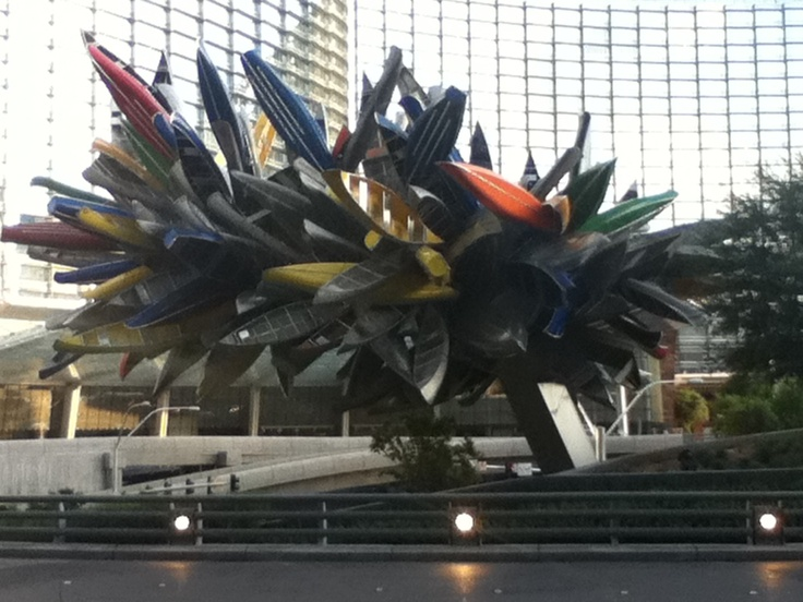 Kayak sculpture outside Vdara in Las Vegas
