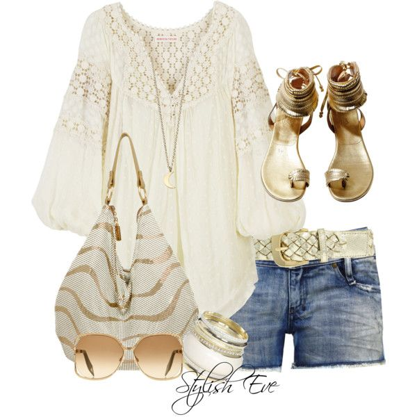 """Golden"" by stylisheve on Polyvore"