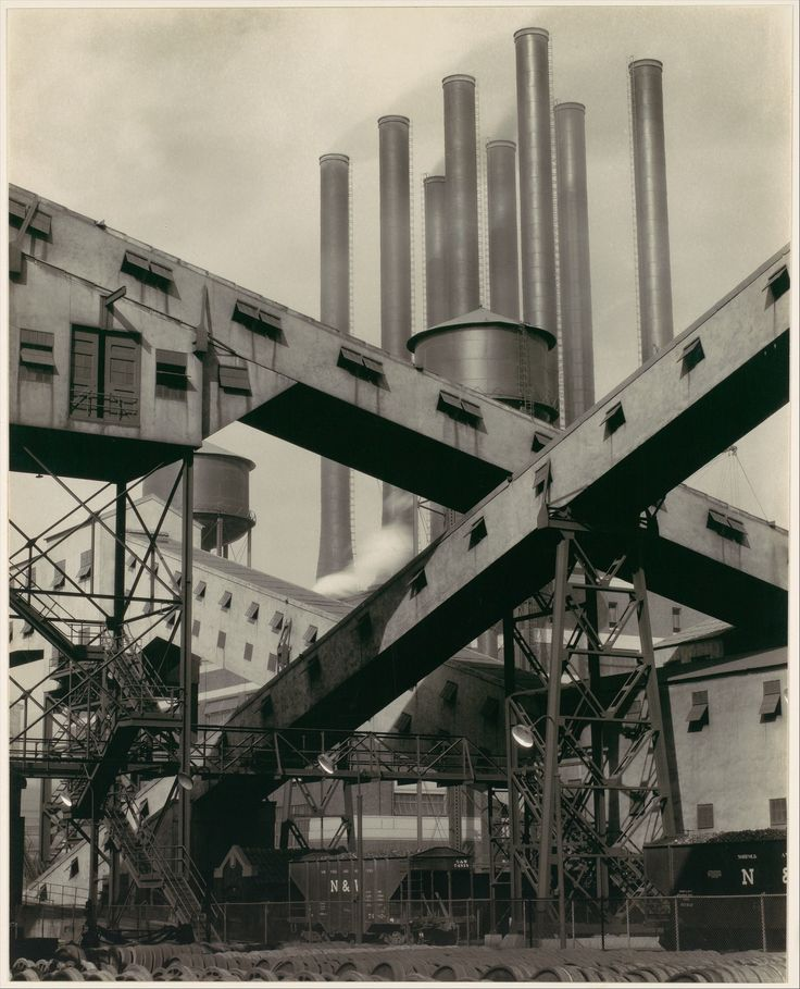 Charles #Sheeler; #Ford Plant, River Rouge, Criss-Crossed Conveyors, 1927