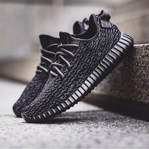 yeezy 350 boost pirate black shoes