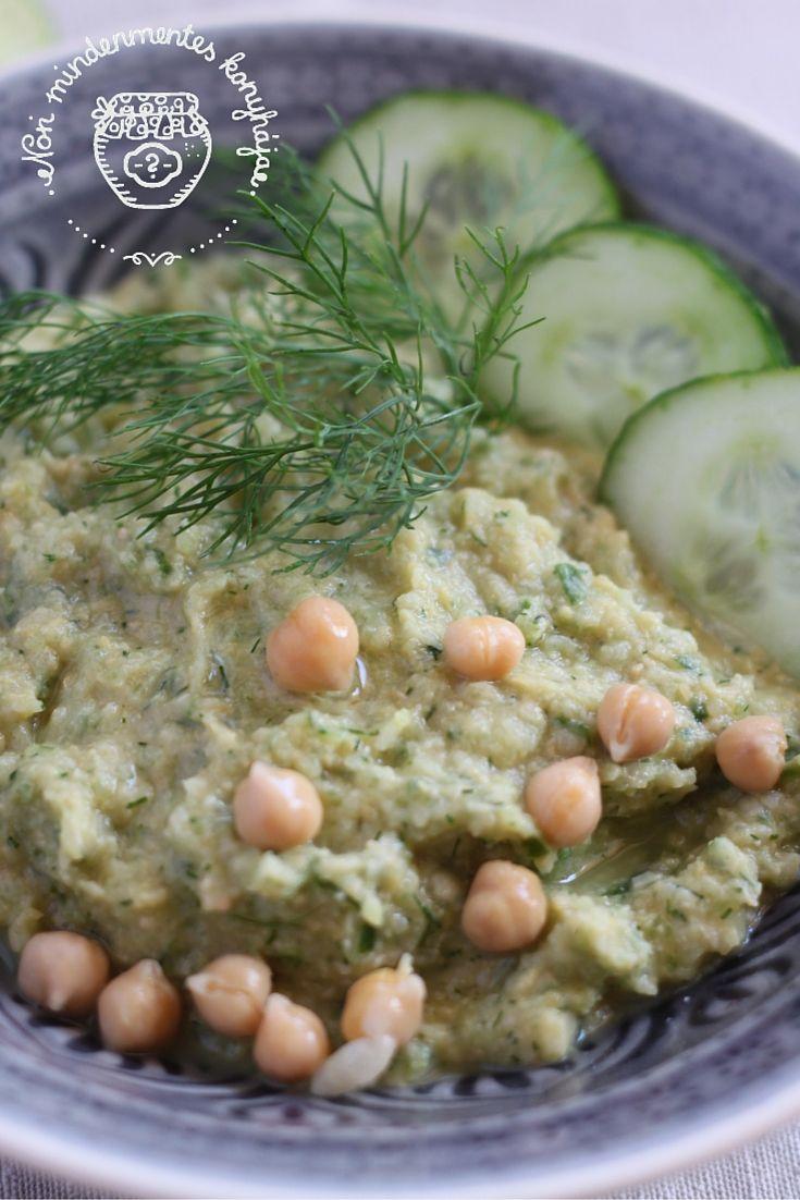 Nóri mindenmentes konyhája: Uborkás-kapros hummusz