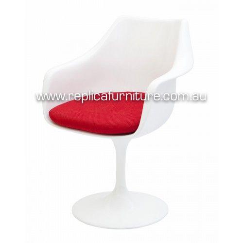 Tulip Arm Chair - Replica Eero Saarinen Tulip Arm Chair Fibreglass