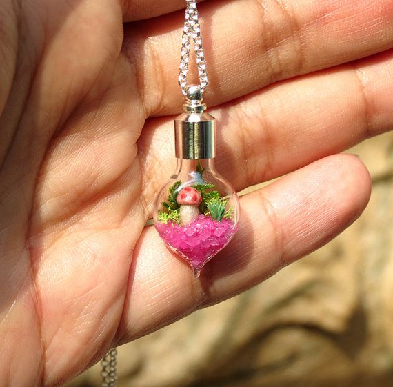 Pink Heart Necklace for Charity Susan G. Komen Gift by Hieropice, $29.50, For breast cancer awareness.
