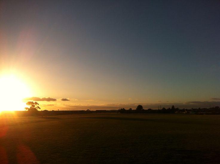 Sunset at Deer Park Melbourne Australia