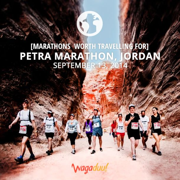 Embark on an Arabian adventure and run a challenging desert marathon. Petra Marathon in Jordan offers a truly unique running experience combining sports and exercise with breathtaking scenery.  Pin it if you would like to attend it one day!