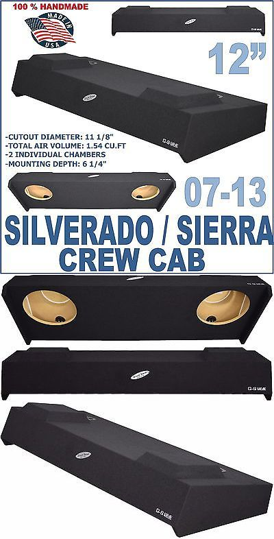 Speaker Sub Enclosures: Chevy Silverado Crew Cab 12 Dual Sealed Sub Box Sub Woofer Enclosure 2007-2013 -> BUY IT NOW ONLY: $158 on eBay!