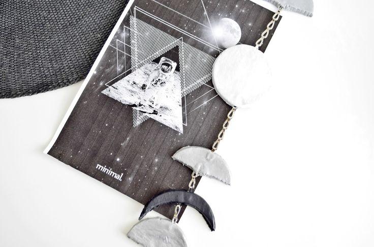DIY - Moon Phases | Cleo-inspire Blog | DIY - Dekoracja Fazy Księżyca.