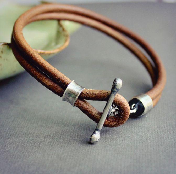 Идеи кожаных браслетов