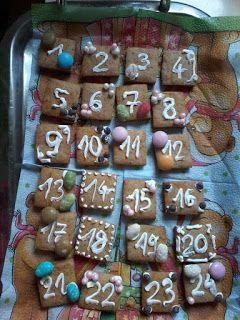 Süti és más...: Mézeskalács adventi naptár
