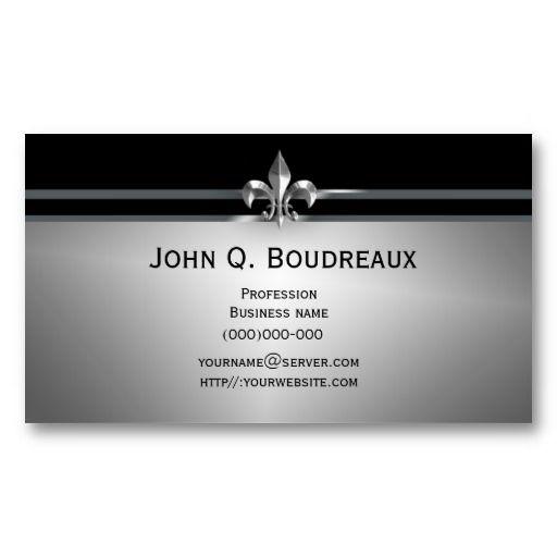 19 best fleur de lis business cards images on pinterest business modern silver black fleur de lis business card reheart Image collections