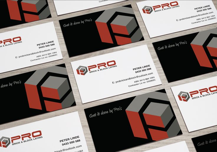 PRO Brick & Block Laying - logo & stationary created by RIS Designs www.risdesigns.com.au