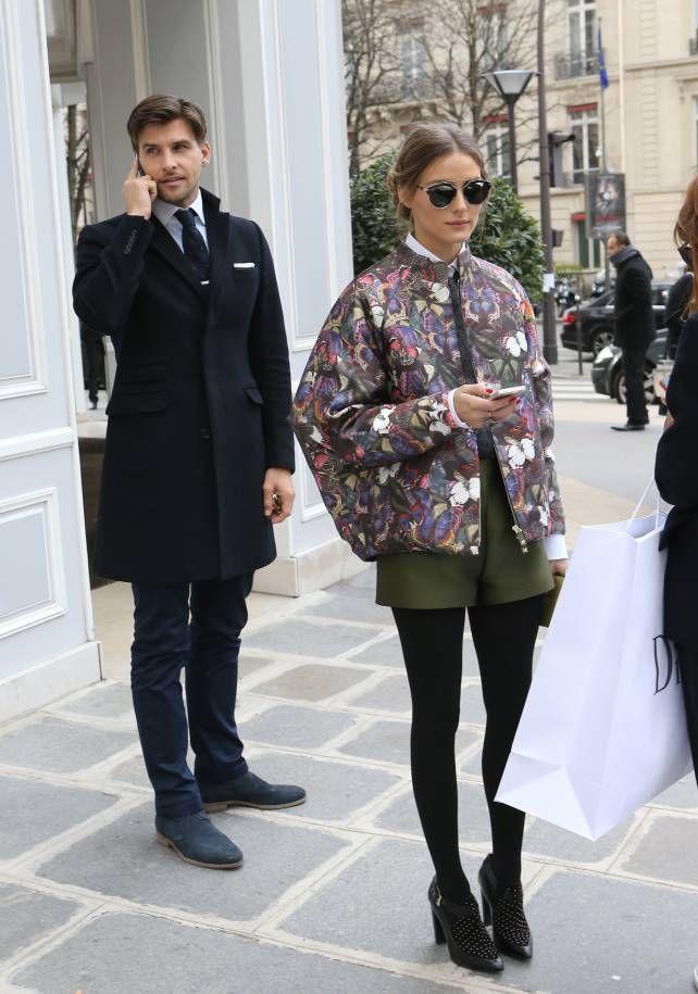 Olivia Palermo y su novio Johannes Huebl comprando en Dior, en París