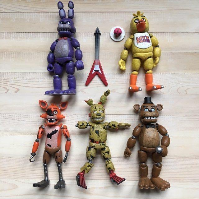 5PCS FNAF Toys Gift 5/'/' Five Nights at Freddy Sister Location Kids Figures US