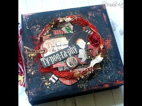 Mini Album *Typography*, Mixed Media Cover (MakaArt) #15 - YouTube