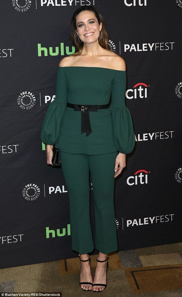 Green with envy! Mandy Moore cut a chic figure wearing all green to a This Is Us panel at Paleyfest LA on Saturday