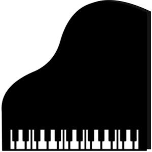 Grand Piano Card Silhouette Cameo Music Painting