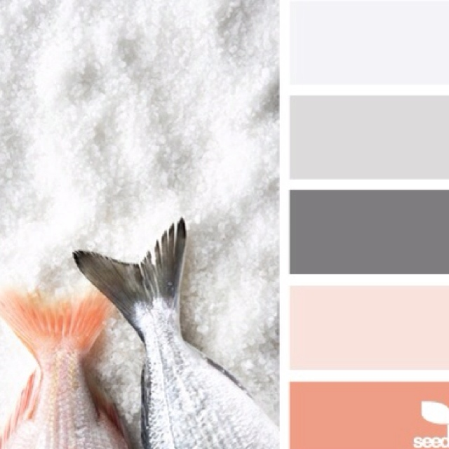 Grey and blush?