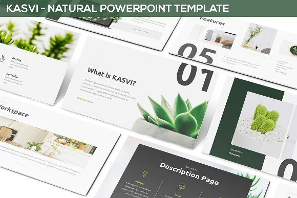 Green Nature Powerpoint Template Download Template Power Point 2020