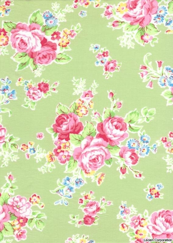 Antique Flower in Pastel by Lecien