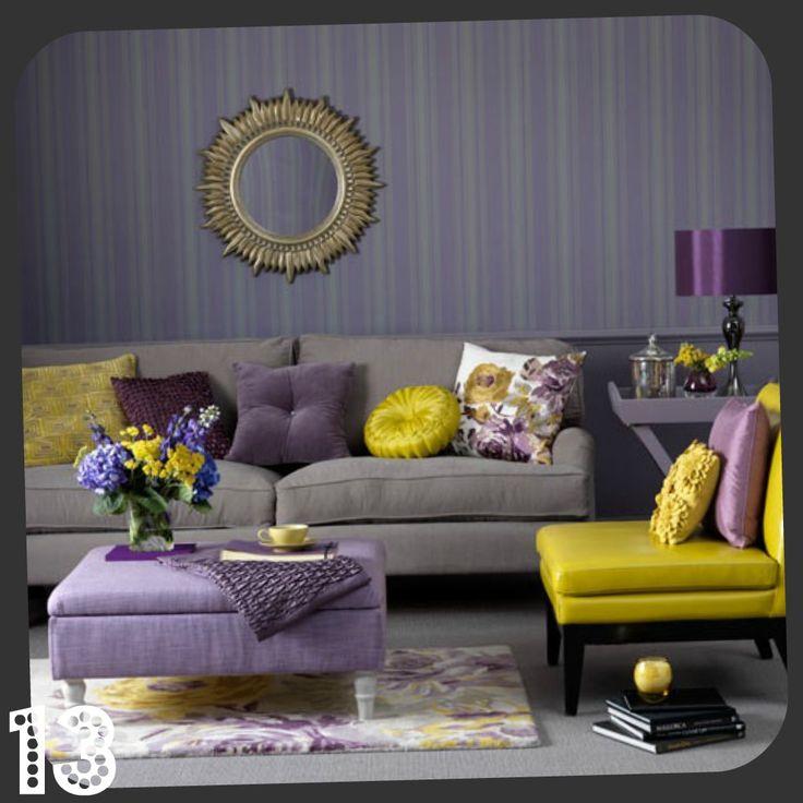 417 best Home BEDROOM grey teal mustard purple images on - purple and grey living room