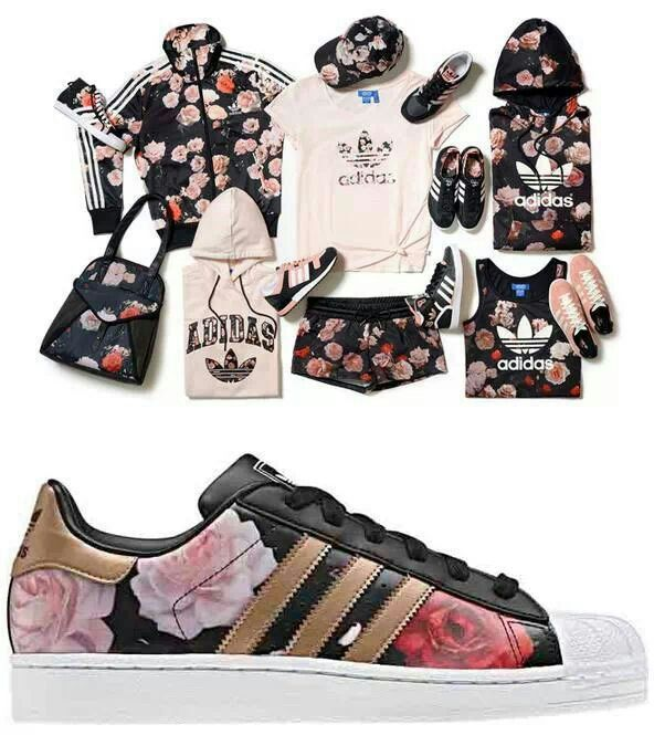 Adidas… leather adidas can't go wrong… bring on the floral…only the shoes though.