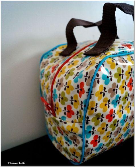 Lunch bag isotherme - Fée danser les fils - à partir du tuto gratuit de Mes Petites Coutures