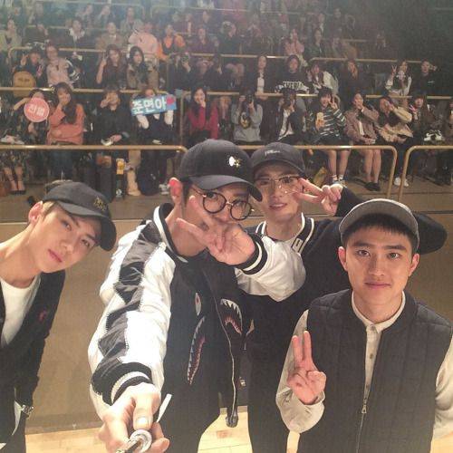 Sehun, Chanyeol, Suho, D.O - 161106 Hat's On Instagram update Credit: Hat's On.