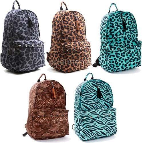 Leopard Print Backpacks for Women Animal Print Backpack Bookbags School Bag #PilotManufacturer #Backpack