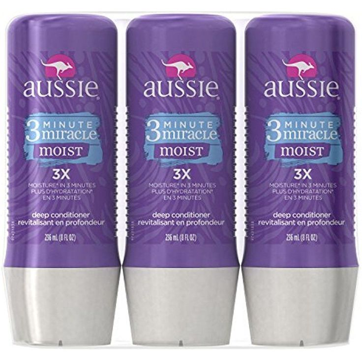 Aussie Deep Conditioner 3 Minute Miracle Treatment Detangler 8 Fl.Oz Pack of 3  #Aussie