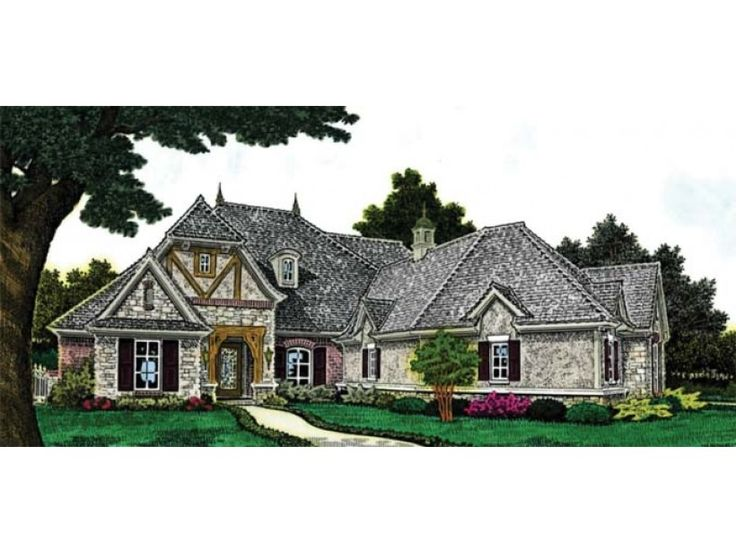 European House Plan with 2043 Square Feet and 3 Bedrooms from Dream Home  Source | House