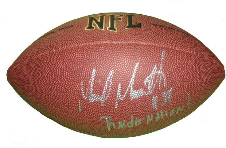 Mike Mitchell Autographed NFL Wilson Composite Football w/ Inscription, Proof Photo  #MikeMitchell #MichaelMitchell #OaklandRaiders #Oakland #Raiders #RaiderNation #BlackHole #NFLFootball #NFL #Football #Autographed #Autographs #Signed #Signatures #Memorabilia #Collectibles #FreeShipping #BlackFriday #CyberMonday #AutographedwithProof