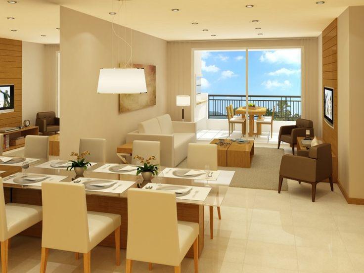 Sala de estar e jantar integradas pesquisa google casa for Sala de estar 20m2