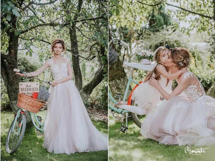 Lovely bride Andreea wearing our Rose Dress. #OtiliaBrailoiuAtelier #weddingdress