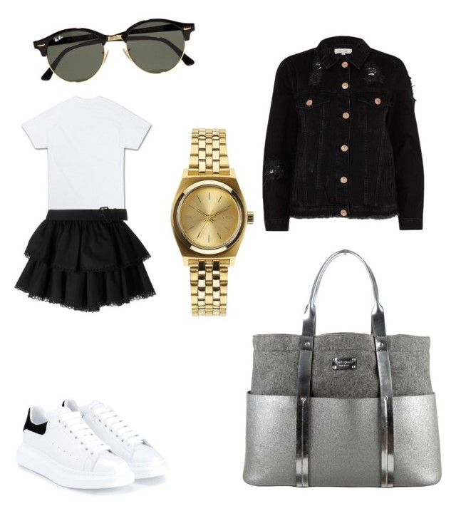"""Untitled #209"" by madisonkiss on Polyvore featuring Alexander McQueen, Kate Spade, Nixon, Ray-Ban and River Island"