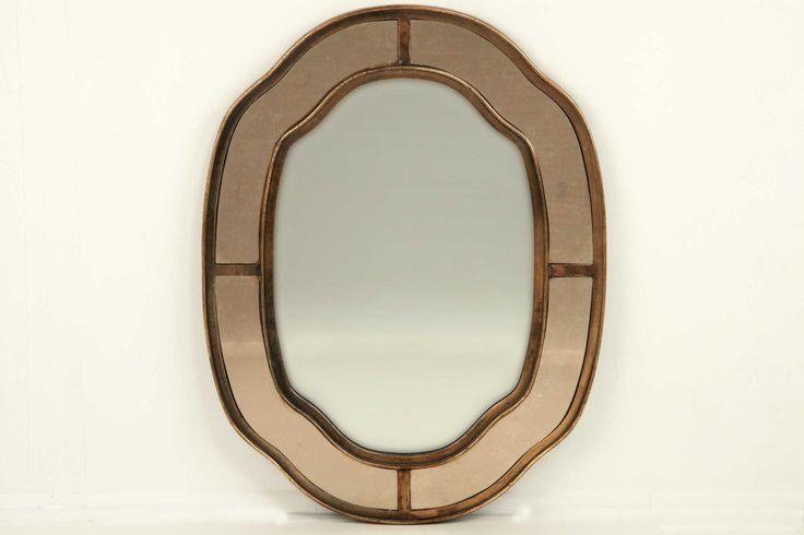 Espejo oval cobre