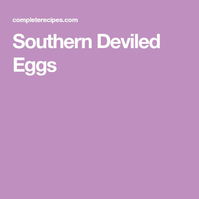 Southern Deviled Eggs
