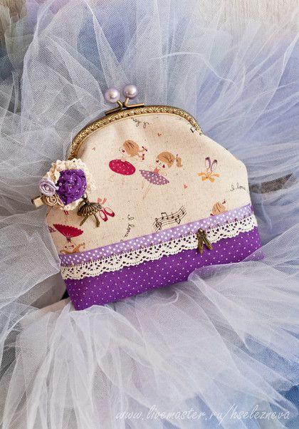 """Сумочка с брошью """"Маленькая балерина"""" - маленькая сумочка,вечерняя сумочка"""