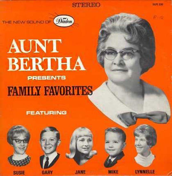 It's sad to play favorites with your grand kids ~~ The Worst Bad Album Cover Art Aunt Bertha present family favorite