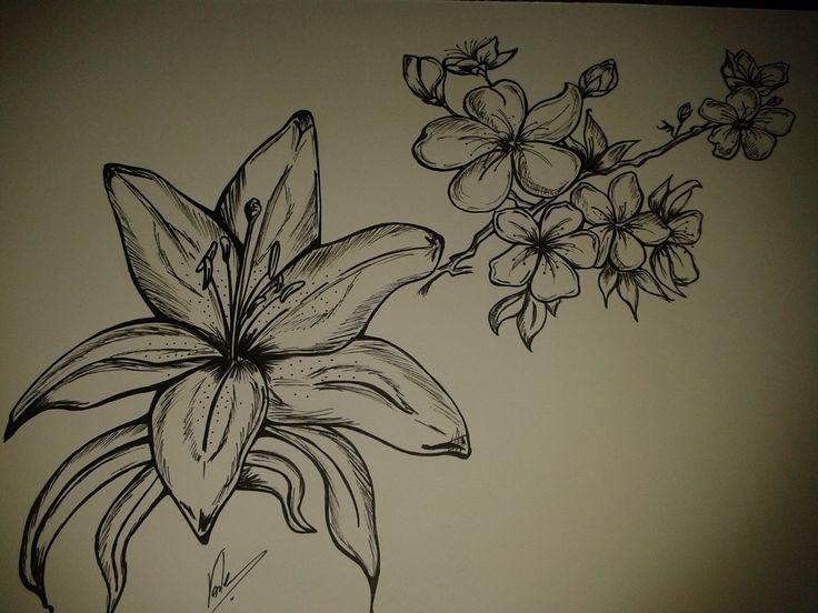 flor de cerezo - lirio