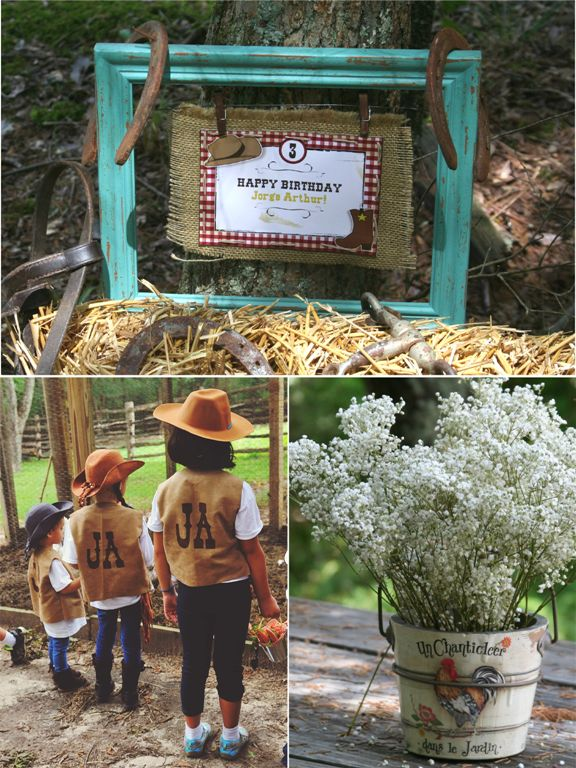 A Stunning Cowboy Themed 4th Birthday Party !! by Bird's Party