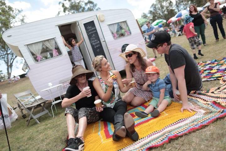 Family fun with The Curious Caravan at The Green Heart Fair.