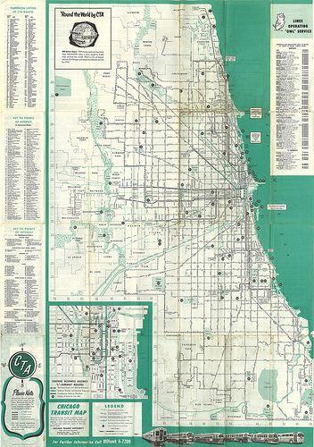 Chicago Transit Map 1955