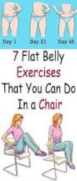 7 flat belly exercises that you can do in a chair as a general rule rh pinterest ch