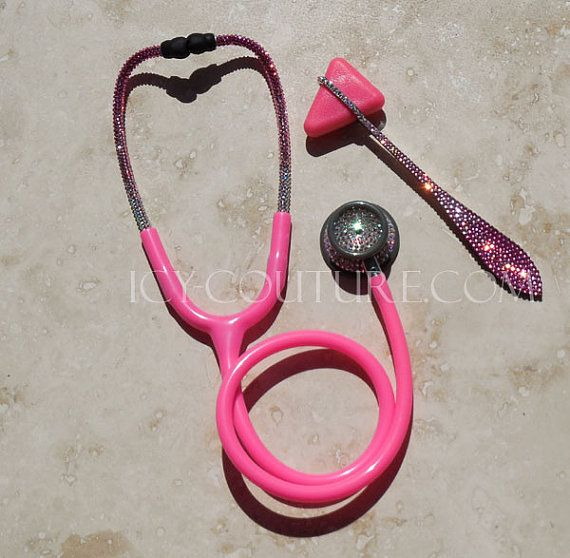 Pink STETHOSCOPE with Swarovski Crystals by IcyCouture on Etsy, $220.00... Maybe a bit much, but I still love