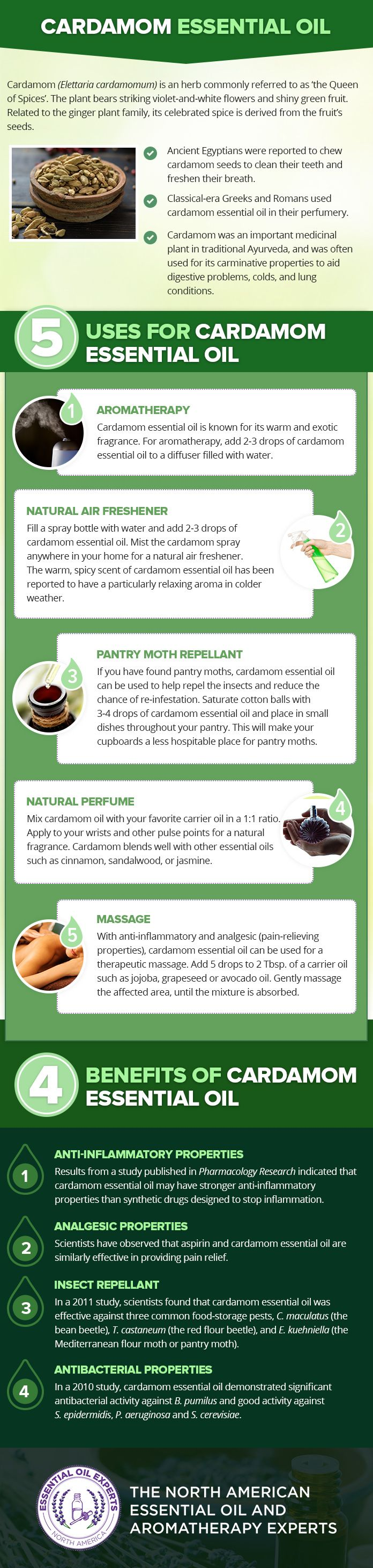 Cardamom Essential Oil Uses & Benefits