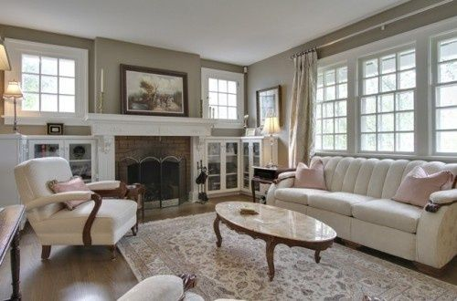 fireplace windows on both sides love the windows and built ins